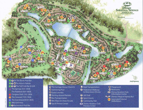 Saratoga springs map