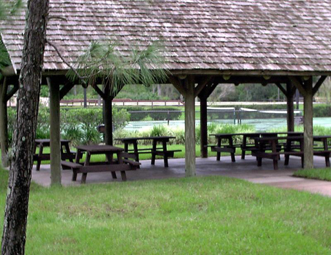 Picnic area at meadow recreation area
