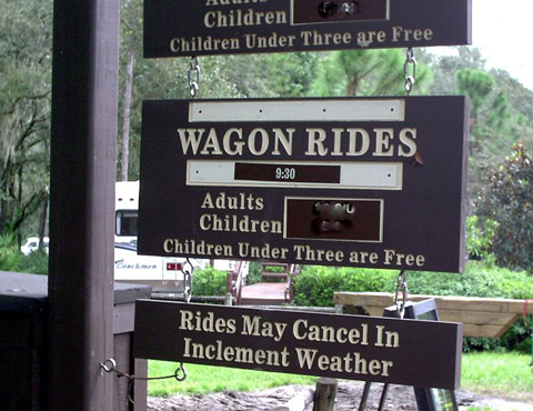 Wagon ride   prices and times