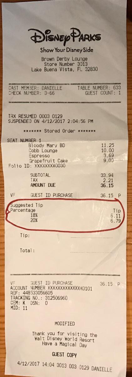 Tipping At Walt Disney World Walt Disney World - Cinderella's royal table prices
